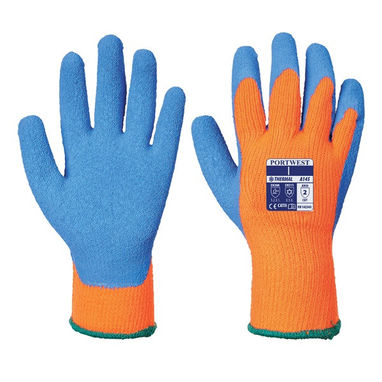 PORTWEST Cold Grip Gloves - Orange/Blue - XX Large