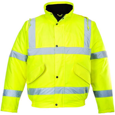 PORTWEST Hi-Vis Bomber Jacket - Yellow - Small