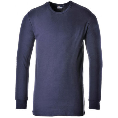 PORTWEST Thermal Long Sleeve T-Shirt - Navy - X Large