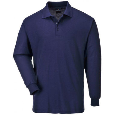 PORTWEST Long Sleeved Polo Shirt - Navy - XX Large