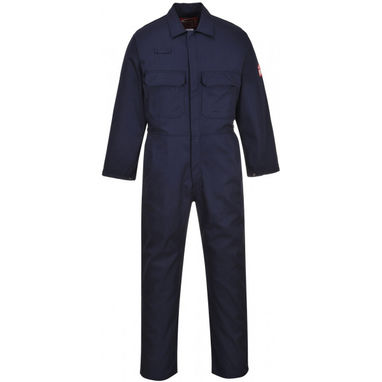 PORTWEST Bizweld Flame Resistant Coverall - Navy - Medium