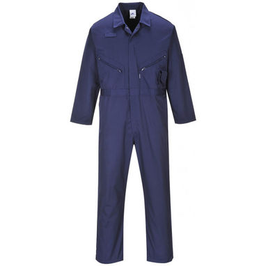 PORTWEST Polycotton Zip Coverall - Navy - Large (Regular)