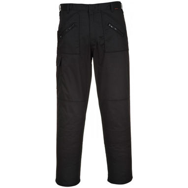 PORTWEST Action Trousers - Black - 36in. Waist (Short)