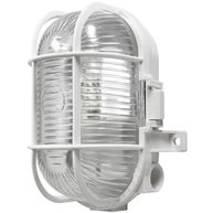 POWERMASTER Oval Caged Bulkhead Light - White - 60W