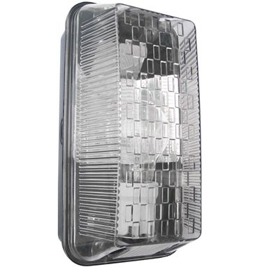 POWERMASTER Rectangular Bulkhead Light - Black - 100W
