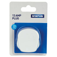 STATUS Mains Plugs - White - Pack of 12
