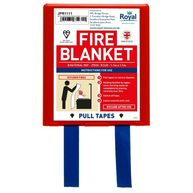 ROYAL Red & White Fire Blanket - 1.1m x 1.1m