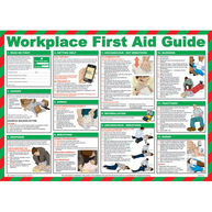 SAFETY FIRST AID Workplace First Aid Guide Poster - 59cm x 42cm
