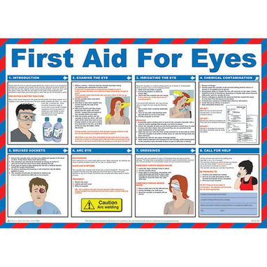SAFETY FIRST AID First Aid For Eyes Poster - 59cm x 42cm