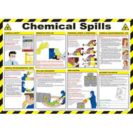 SAFETY FIRST AID Chemical Spills Poster - 59cm x 42cm