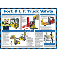 SAFETY FIRST AID Fork Lift Truck Safety Guidance Poster - 59cm x 42cm