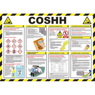 SAFETY FIRST AID COSHH Awareness Poster - 59cm x 42cm