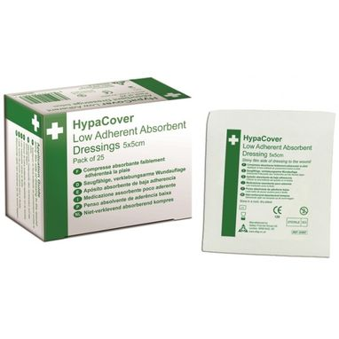 SAFETY FIRST AID HypaCover Low Adherent Dressings - 5 x 5cm - Pack of 25