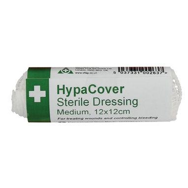 SAFETY FIRST AID HypaCover Medium Sterile Dressings - 12 x 12cm - Pack of 6