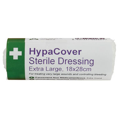 SAFETY FIRST AID HypaCover Extra Large Sterile Dressings - 28 x 18cm - Pack of 6