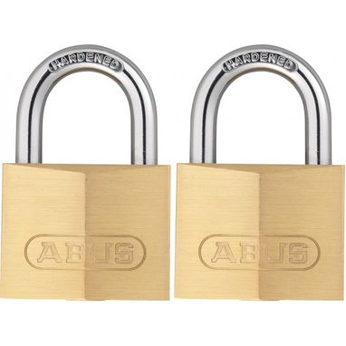 ABUS Brass Padlocks - 40mm - Twin Pack