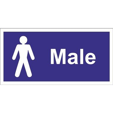 CASTLE PROMOTIONS Male Toilet Sign - Self Adhesive Vinyl - 100mm x 200mm