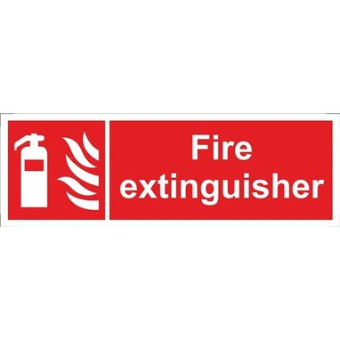 CASTLE PROMOTIONS Fire Extinguisher Sign - Self Adhesive Vinyl - 100mm x 300mm