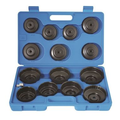 LASER Oil Filter Wrench Set - Cup Type - 15 Piece