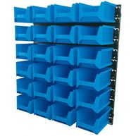 DRAPER 24 Bin Wall Storage Unit - Large Bins