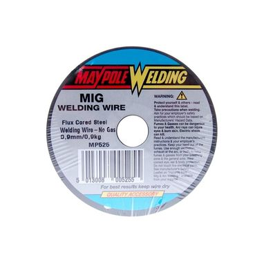 MAYPOLE Flux Cored Mig Wire - 0.9mm - 0.9kg