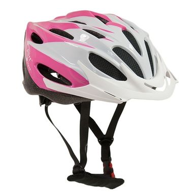 SPORT DIRECT Comp Team™ Junior Pink & White Cycle Helmet 52-56cm