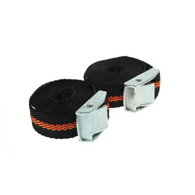 MAYPOLE Luggage Straps with Cam Buckle - 2.5m x 25mm - Pack of 2