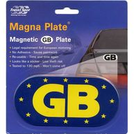 TRAVEL SPOT Magnetic Euro GB Plate