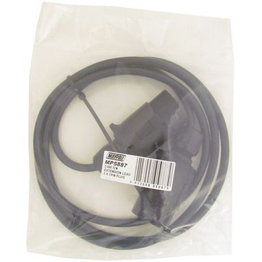 MAYPOLE Extension Lead - 2m - 12N - 7-Pin Plugs