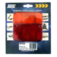 MAYPOLE Rear Lamp - Square  - Lens Only - 003
