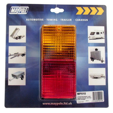 MAYPOLE Rear Lamp - Rectangle - Combination