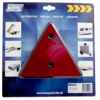 MAYPOLE Reflective Triangles - Red