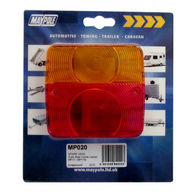 MAYPOLE Rear Lamp - Square  - Lens Only - 017