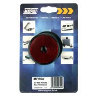 MAYPOLE Reflectors - Round - Red