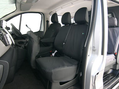 Renault Trafic 2014 Onwards Heavy Duty Non Folding Double Passenger Seat Cover - Town & Country