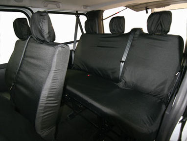 Vauxhall Vivaro 2014 Onwards Heavy Duty 6 Rear Seat Cover Set - Town & Country